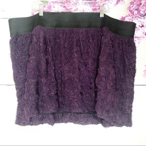 Torrid | Eggplant Floral Skirt